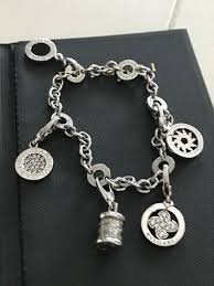 white gold bracelet with charm images Bvlgari 18 kt white gold bracelet with 5 charms l 17 5 cm catawiki jpg