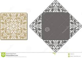 laser cut pattern for invitation card for wedding stock vector