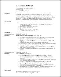 Free Marketing Resume Templates Free Creative Digital Marketing Manager Resume Template Resumenow