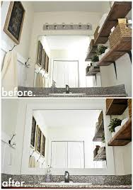framed bathroom mirrors diy diy framed bathroom mirrors liz marie blog