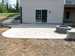 Cost Paver Patio Backyard Cost Of Paver Patio Vs Concrete Patio Small Townhouse