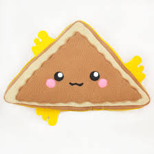 cheese emoji grilled cheese sandwich triangle pillow plush toy