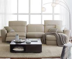 Leather Motion Sectional Sofa Alessandro 6 Leather Sectional With Chaise 2 Power Motion