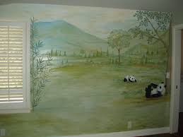 panda baear archives hand painted murals for children mural for kids