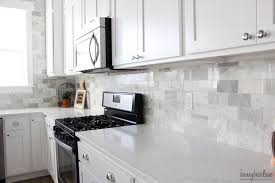 Diy Kitchen Backsplash My Diy Marble Backsplash Honeybear Lane