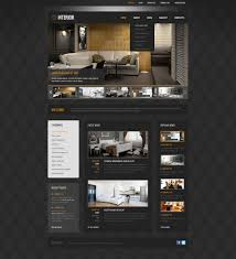 black interior design wordpress theme 42065