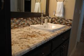 Replacing Bathroom Vanity by Concrete Bathroom Countertop With Double Sink Modern Vanity Tops
