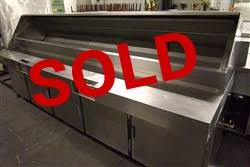 Refrigerated Prep Table by Used Traulsen Vps120j 4 Door Refrigerated Prep Table