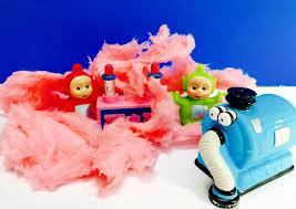 teletubbies toys tubby custard cotton candy mess