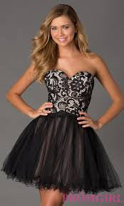 strapless lace up party dress prom dress