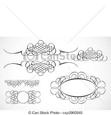 clipart vector of vector decorative frame ornaments detailed