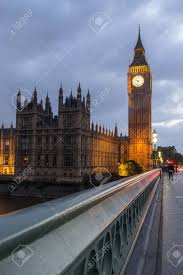 world famous clock tower british houses parliament
