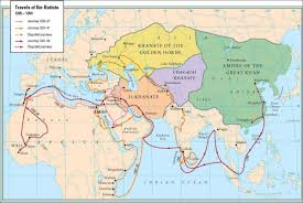 Map Of Islam Around The World by The Travels Of Ibn Battuta Orias