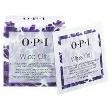 opi acetone free nail polish remover wipes wipe off 10 wipes