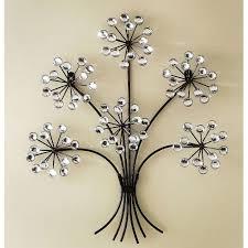 wall art ideas design crystal diamond metal wall art designs