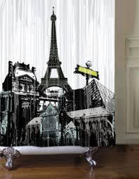 Paris Curtains Bed Bath Beyond Black And Pink Paris Bathroom Shower Curtain And Accessories From
