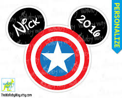 captain america mickey head printable disney iron transfer