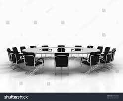 Large White Meeting Table Business Large Meeting Conference Table Chairs Stock Illustration