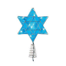 kurt s adler ul 10 light led silver and blue hanukkah