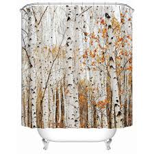 Shower Curtains With Trees Aliexpress Buy Beautiful Bird Stands On The Tree Eco