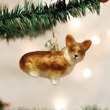 world pembroke corgi glass tree ornament 2 75