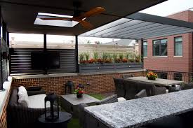 garage roof deck renovation lakeview chicago urban garage roof deck outdoor furniture lakeview chicago
