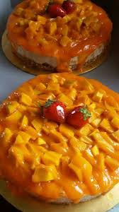Kek Mango resepi mangga aiskrim cheese kek resepi senang simple