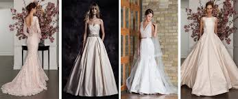 blush wedding dress trend 2017 2018 wedding dress trends update white dress bridal boutique