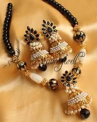 beautiful necklace online images Buy beautiful handmade black aashiqui necklace set dj10589 online JPG