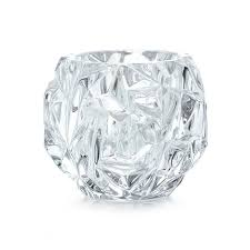 rock cut votive in crystal glass tiffany u0026 co