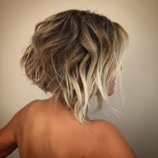 photos of the back of short angled bob haircuts women s short angled bob with blonde balayage color and messy