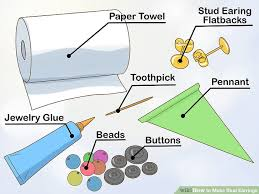 make stud earrings how to make stud earrings 9 steps with pictures wikihow