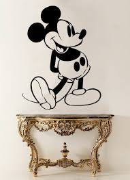 compare prices on wall stencils stickers online shopping buy low mickey mouse vinyl wall stickers cartoon animal removable diy decal full of spirit mickey kids nursery