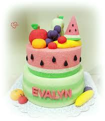 Watermelon Cake Decorating Ideas Fruits Watermelon Chiffon Cake
