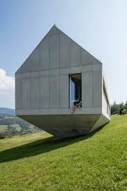 steep hillside house plans robert konieczny uses drawbridge to create ark like house on a