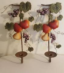 Home Interiors Candle Holders Home Interiors Fruit Impressions Metal Sconces Candle Holders
