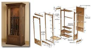free gun cabinet plans with dimensions 3 gun cabinet plans to try for an aspiring woodworker
