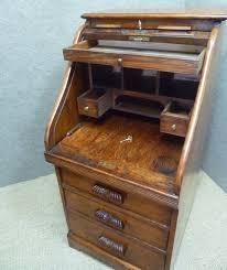 small roll top desk sold small solid oak single pedestal roll top desk
