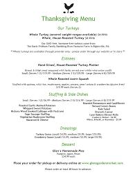 thanksgiving menu tasting glens garden market