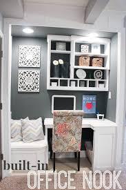 Built In Office Ideas Built In Office Nook Basement Project