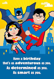 justice league as adventurous as you musical birthday card