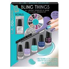 l a colors 8 pc bling things d i y nail kit beauty beauty