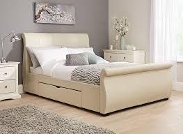 Upholstered Footboard Kitchen Inspiring Upholstered Bed Frame With Storage Upholstered