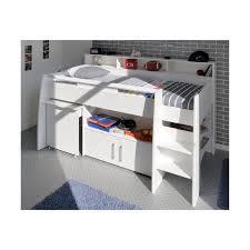 lit surélevé avec bureau lit combiné surélevé avec bureau et rangement intégrés 1 personne