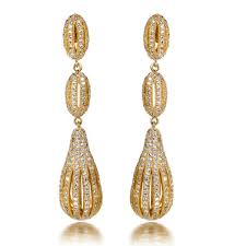 real gold earrings earrings for girl drop earring silver pins real gold plated