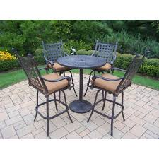 Patio High Dining Table by Sunjoy Seabrook 5 Piece Patio High Dining Set L Dn899sal A The