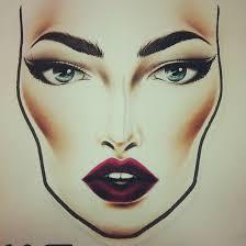 sketch of face for makeup makeup vidalondon
