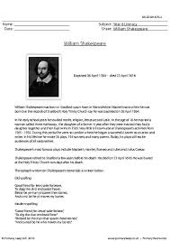 primaryleap co uk reading comprehension william shakespeare