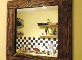 wood framed bathroom mirrors realie org