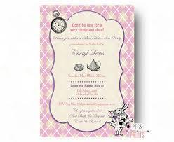 Tea Party Invitation Card Mad Hatter Bridal Shower Invitation Mad Hatter Tea Party
